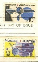Space Issue Complete Set 2 Stamps FDI First Day Issue