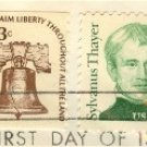 Sylvanus Thayer 9 cent Stamp Great Americans Issue FDI SC 1852 First Day Issue