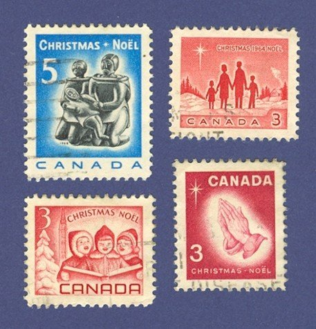 Canada Christmas 4 Stamps