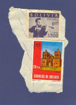 Bolivia 2 stamps