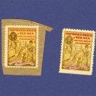 Improved Order of Red Men 2 Stamps
