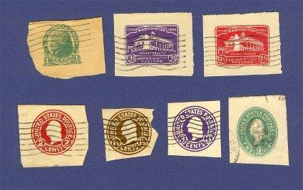 6 United States Envelope Imprints George Washington