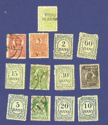 Romania 13 stamps from 1911 to 1929   Packet No 6566