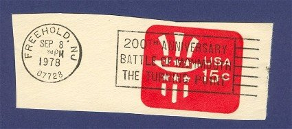 United States 200th Anniversary Cancellation Battle of Monmouth 1978