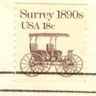 Surry Coil Stamp 18 cent FDI SC 1907 First Day Issue Transportation Issue