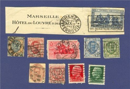 Italy 10 Stamps 1921 to 1939  Packet No 3713