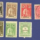 Angola 7 Stamps from 1902 to 1921 Packet No 2