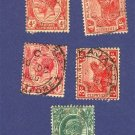 Straits Settlements 5 Stamps from 1903 to 1922  Packet No 1601