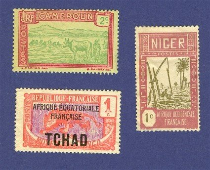 French Colonies  3 Stamps   Packet No 2737