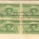 Puerto Rico Election 3 cent Stamp block of 4 FDI SC 983 First Day Issue