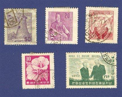 Korea 5 stamps