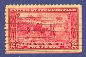 United States Birth of Liberty 2 cent Stamp Painting by Henry Sandham Scotts No 618