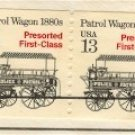 Patrol Wagon coil Stamp 13 cent Pair FDI SC 2258 First Day Issue Transportation Issue