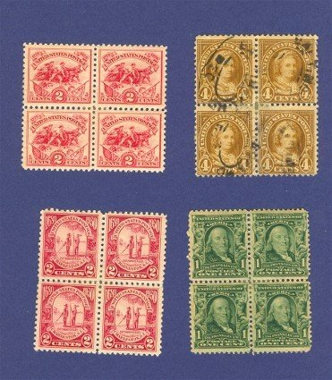 United States Stamps 4 Sets of Blocks of 4  Packet No 14635