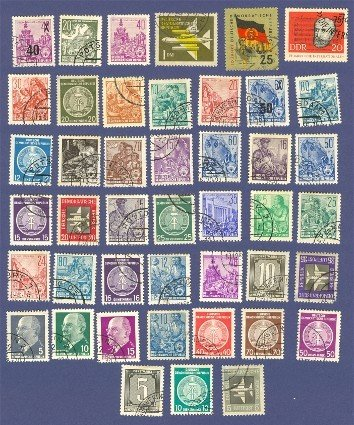 German Democratic Republic Packet No 1407 with 44 stamps