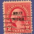 Monmouth Molly Pitcher United States 2 cent Stamp Scotts No 646