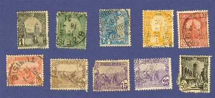 Tunisia 10 Stamps form 1906 to 1921  Packet No 2683