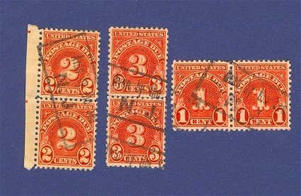 United States Postage Due Stamps in Pairs  Packet No 17633