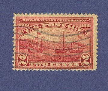 United States Hudson Fulton Celebration Issue 1909 2 cent Half Moon and Clermont