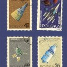 Poland 4 Space Stamps