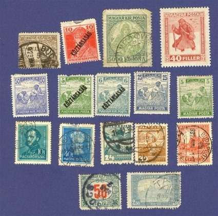 Hungary 16 stamps from 1918 to 1930  Packet No 7741