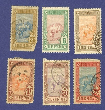 Tunisia Parcel Post 6 Stamps from 1906  Packet No 3