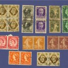 Pairs of Stamps Triplets of Stamps Variety Pack No 6 Switzerland Belgium France Others