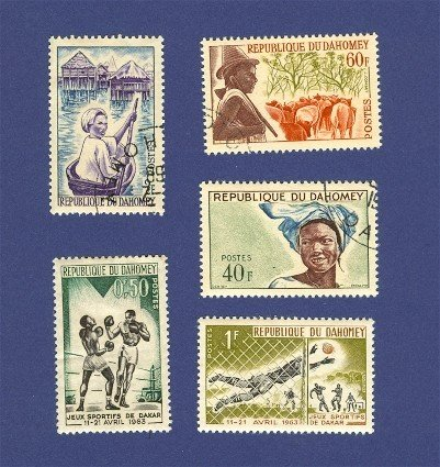 Dahomey 5 stamps Packet No1416