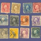 United States Stamps 16 of George Washington and Ben Franklin from 1916 to 1919