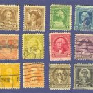 1932 George Washington Bicentennial Issue complete Set of 12
