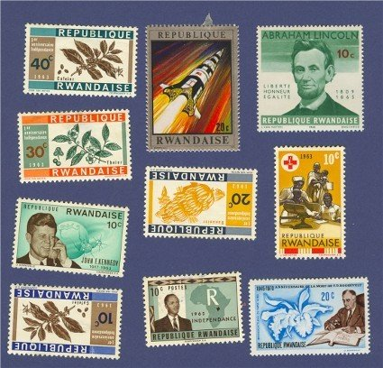 Rwanda 10 Stamps