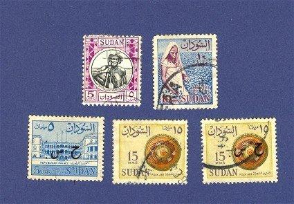 Sudan 5 stamps