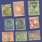 Dutch Indies 9 stamps from 1901 to 1914  Packet No 1731