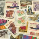 United States 75 Stamps Still on Envelopes   Packet No 8720