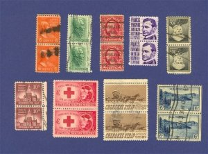 United States Stamps 9 Sets Vertical Pairs Packet 29631