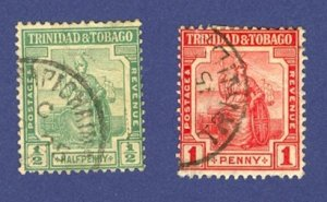Trinidad and Tobago  2 Stamps 1913 to 1914