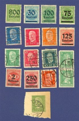 Germany 16 stamps Packet No 5734