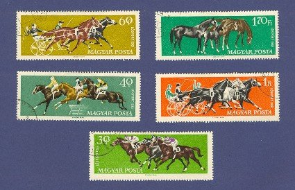 Horse Racing 5 Stamps  from Hungary