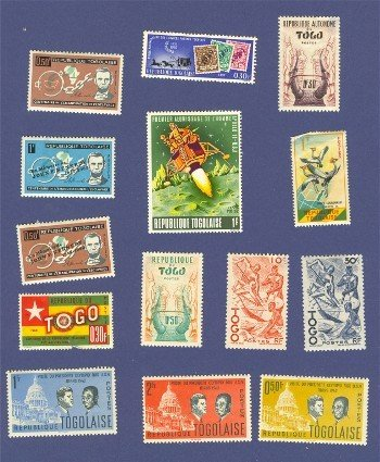 Togo Packet No 2492 with 14 stamps