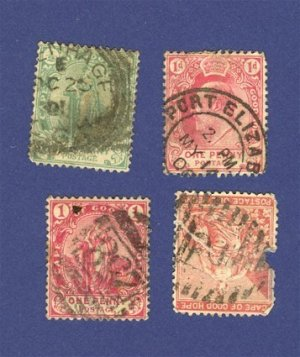 Cape of Good Hope 4 Stamps from 1864 to 1904