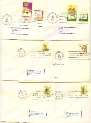 1980 5 FDI Sequoyah Windmills Letter Writing First Day Issue Packet