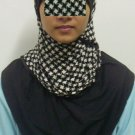 New~Split Kuwaiti Hijab~Amira~Mona~Muslim/Islamic Head Scarf~Tudung~Kleidung (ID 3428-BW)