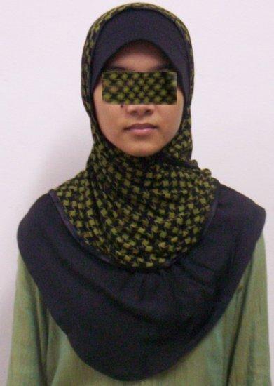 New~Split Kuwaiti Hijab~Amira~Mona~Muslim/Islamic Head Scarf~Tudung~Kleidung (ID 3428-GR)