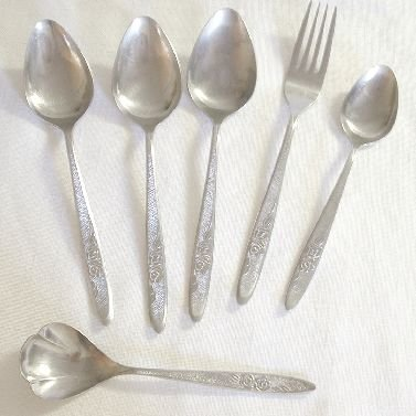6 Pieces Ekco Eterna Stainless Flatware Carolyn Free Shipping