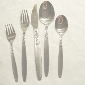One Place Setting Amefa Holland Stainless Flatware Tulip Time Free Shipping