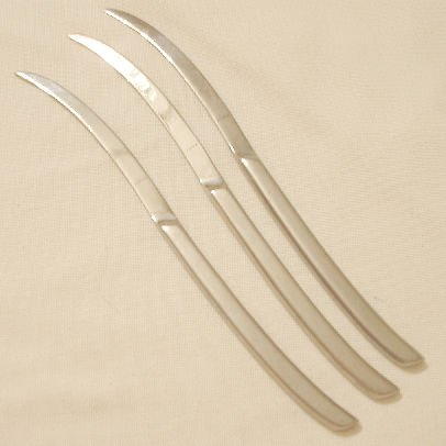 3 Place Knives Retroneu Stainless Flatware Vertu Free Shipping