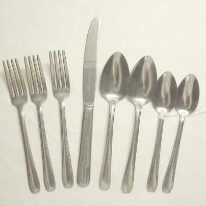 8 Pieces Vintage National Stainless Flatware NST86 Free Shipping