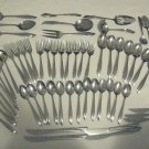 57 Pieces Stainless Flatware Unknown Pattern UNF155 for Dorm or Camping Free Shipping