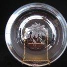 Stromberg Strombergshyttan Sweden Engraved Glass - Black-Eyed Susan Maryland State Flower Plate