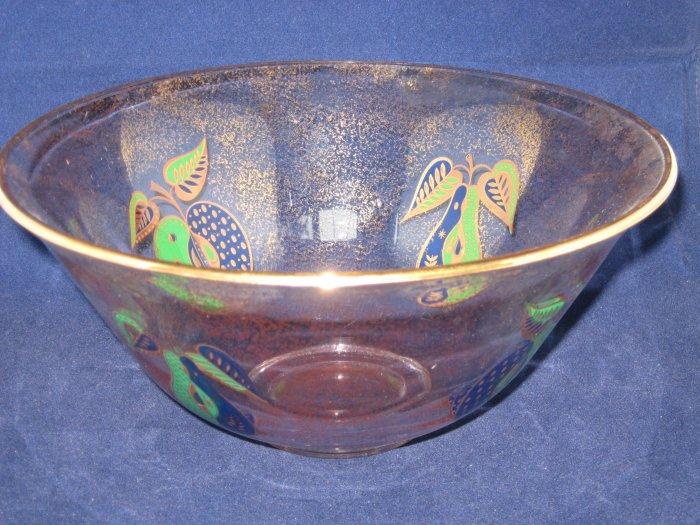 Georges Briard Forbidden Fruit Large  Glass Serving or Salad Bowl-Vintage
